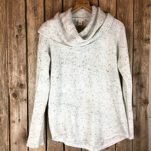 Westbound White and black speckled sweater